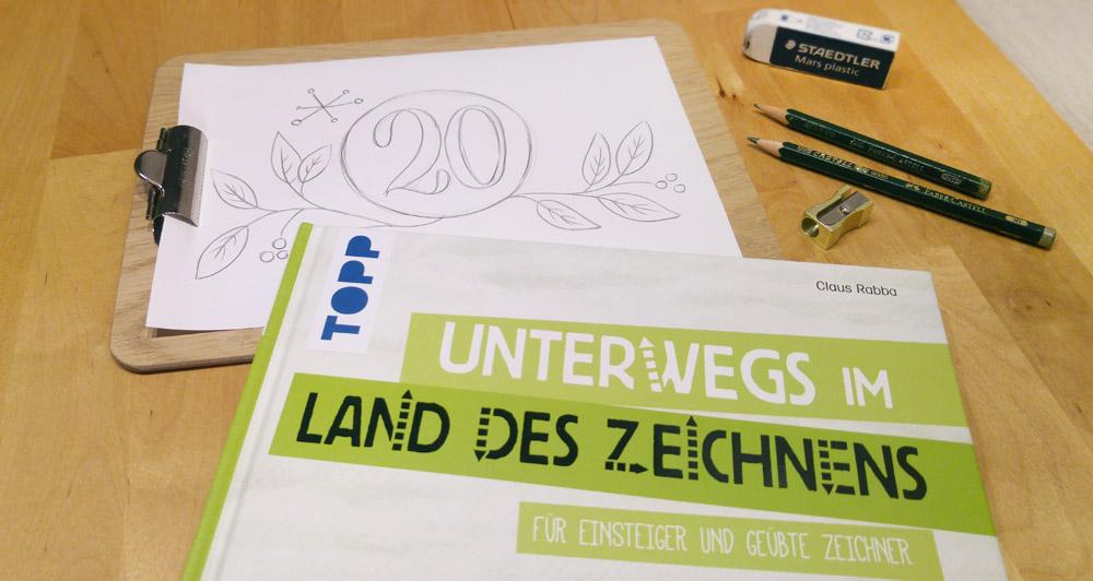 """""""Unterwegs im Land des Zeichnens"""" verbirgt sich im 20. Türchen der Blogger-Adventskalenders."""