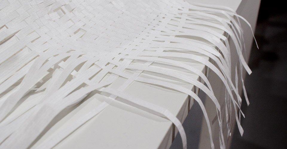 Feinste Materialen wie dieses gewebte Papier.