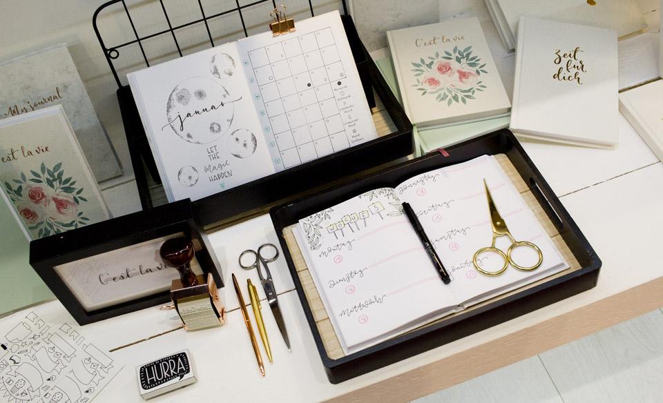 Im Rössler Sortiment vertreten, neben Papeterie nun diese Notizbücher für Bullet Journal und Handlettering.