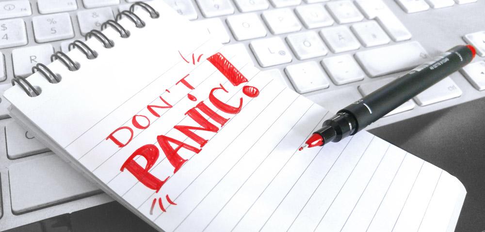 Don't Panic! Auch nicht vor der DSGVO.