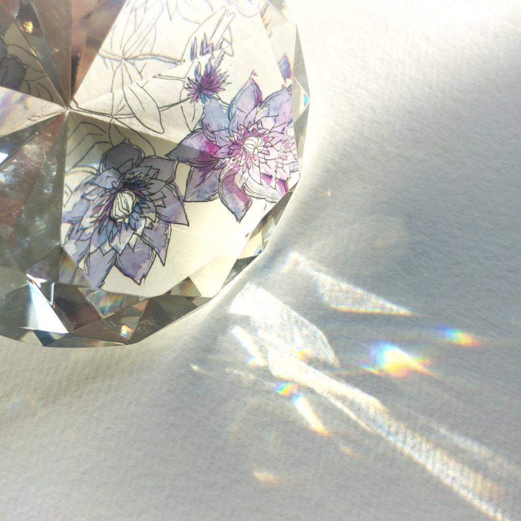 Lichtspiele mit dem geschliffenen Glas…