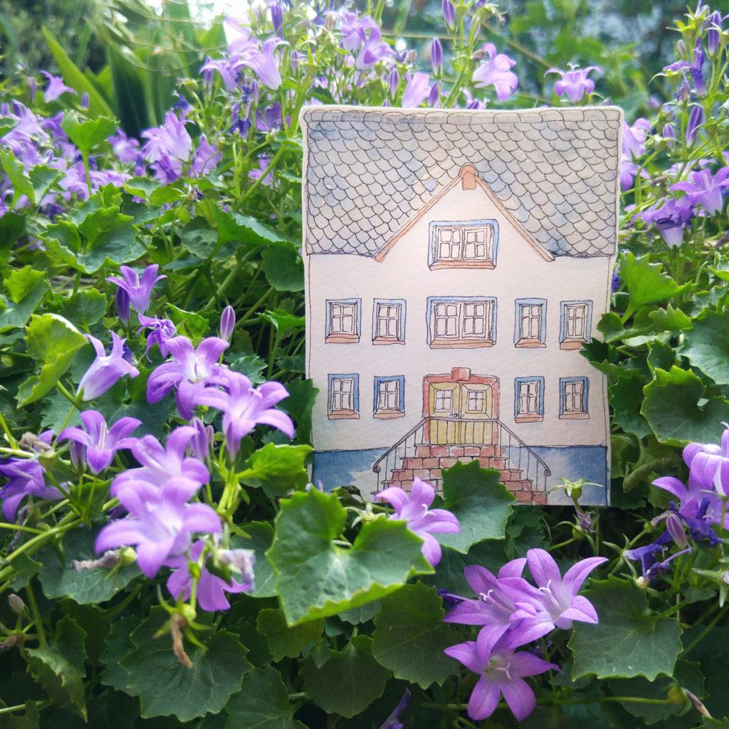Architektur hat mich schon immer sehr interessiert, daher habe ich mehrere alte Häuser gezeichnet.