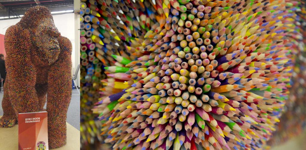 Wer errät wieviel Stifte in wieviele Arbeitsstunden diesen Gorilla ergaben?