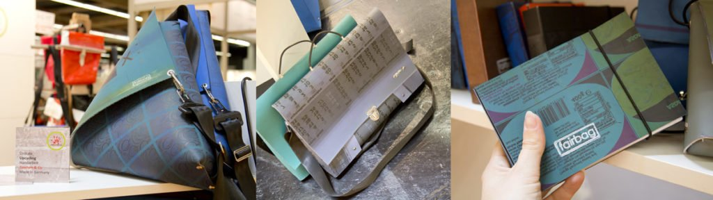 Fairbag – verschiedenste Taschen aus Recycling-Materialien handgefertigt von Menschen mit Behinderung.