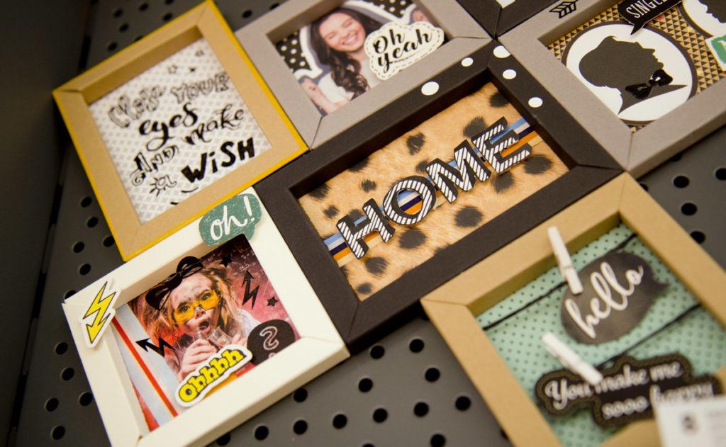 3D-Bilderrahmen selbst gebastelt aus Papier - Folia DIY bietet die passend gestanzten Rahmen.