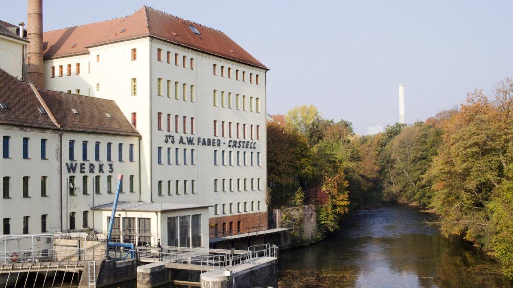 """Das """"Werk 3"""" mit der Minen-Produktion und den Räumen der Akademie Faber-Castell."""