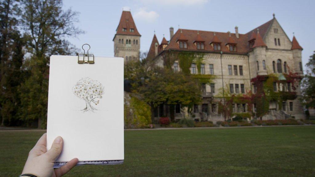 Zum Abschluss: Mein Inktober Märchen-Motiv passend zum Schloss. Na, wer erkennt um welches es sich handelt?