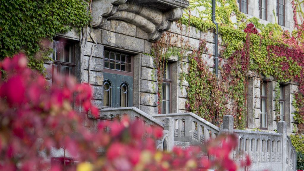 Herbstfarben am Schloss.