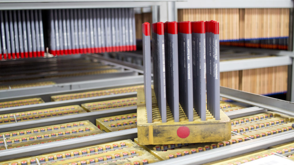 Im Trocknungsraum machen alle Stifte etwas Pause bevor es ggf. zur weiteren Verarbeitung geht.