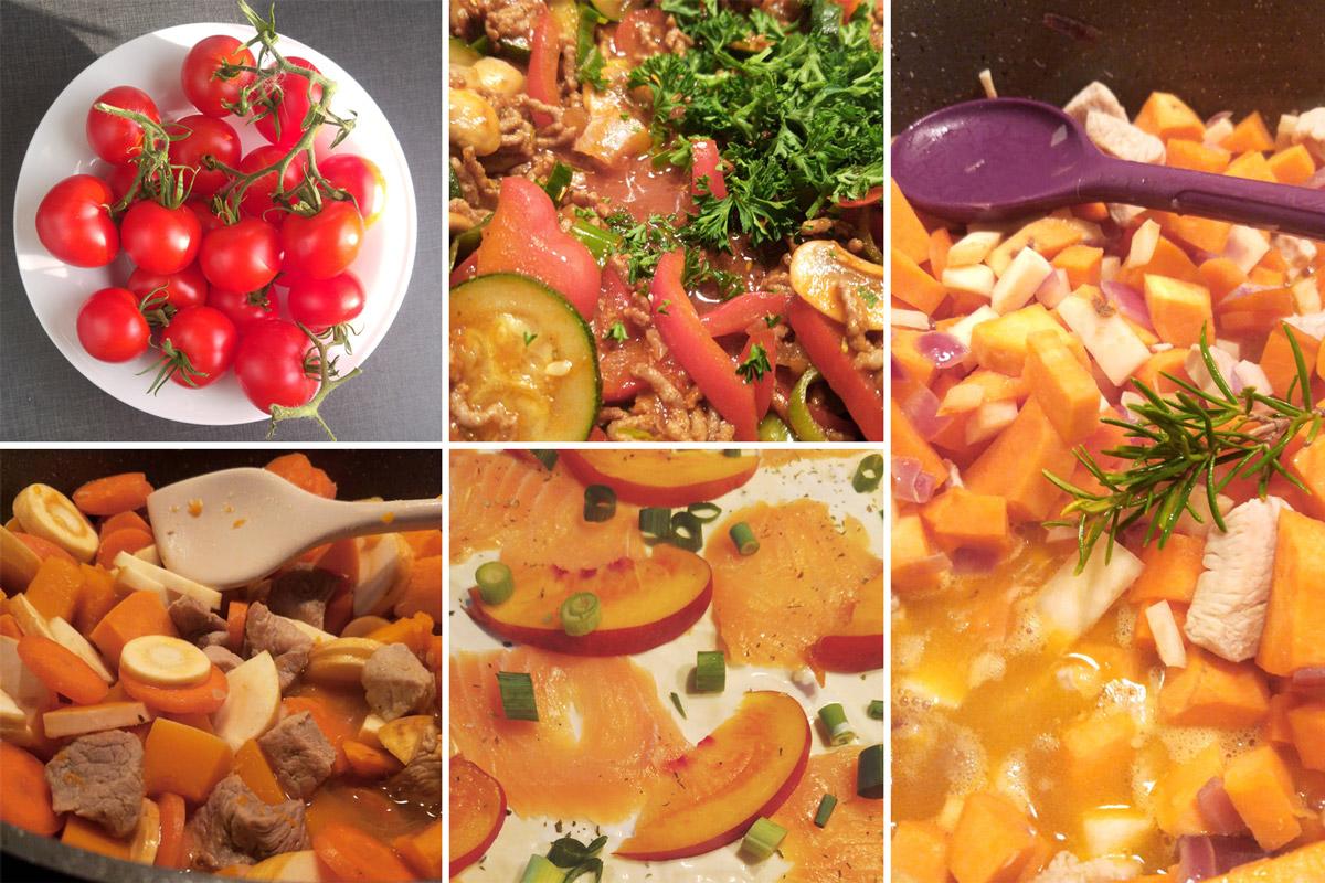 Lecker essen nach lecker kochen! Am besten mit viel frischem Gemüse aus Mudders Garten.