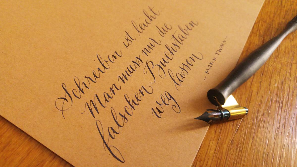 Schreiben ist leicht.