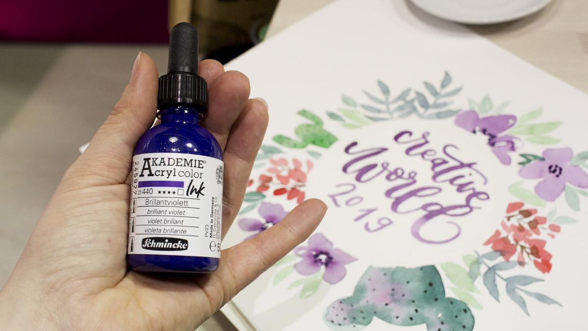Neu von Schmincke: AKADEMIE Acrylcolour Ink. Flüssige Acrylfarben die wasserfest auftrocknen.