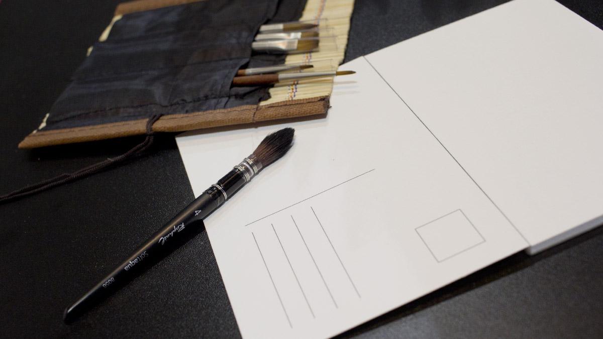 Pinsel im Postkartenformat von Raphael.