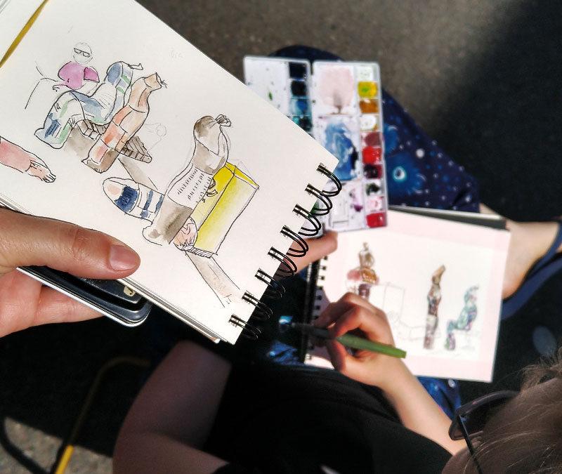 USk Mittelhessen – mein erstes Treffen mit Urban Sketchers
