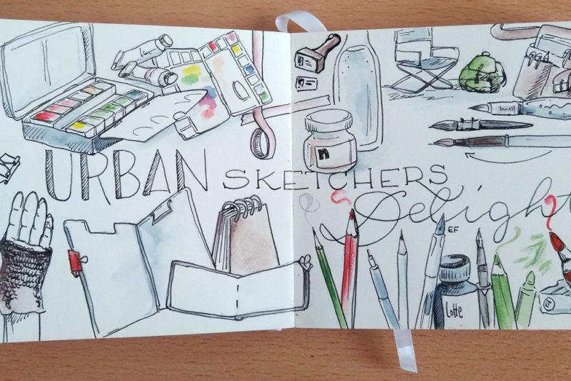 Urban Sketchers Delight – Die Essentials für das Zeichnen unterwegs
