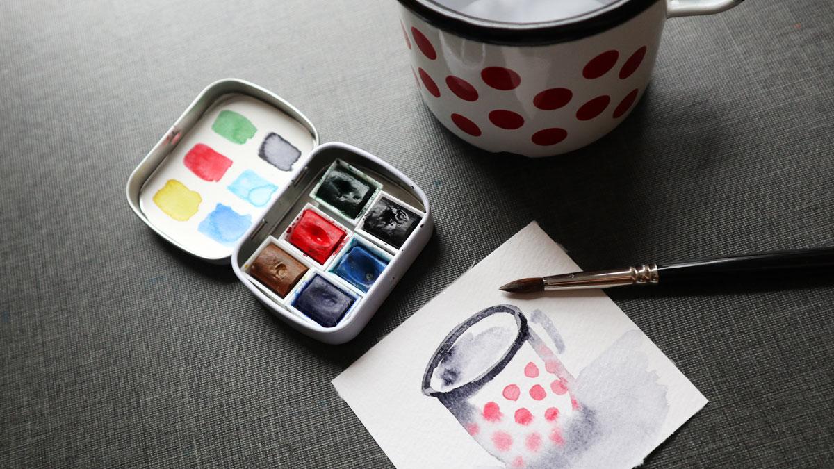Im Mini Sketching Kit bereits immer dabei: Neutraltinte