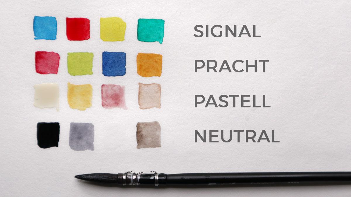 Farbfamilien mit gleichem Farbeindruck