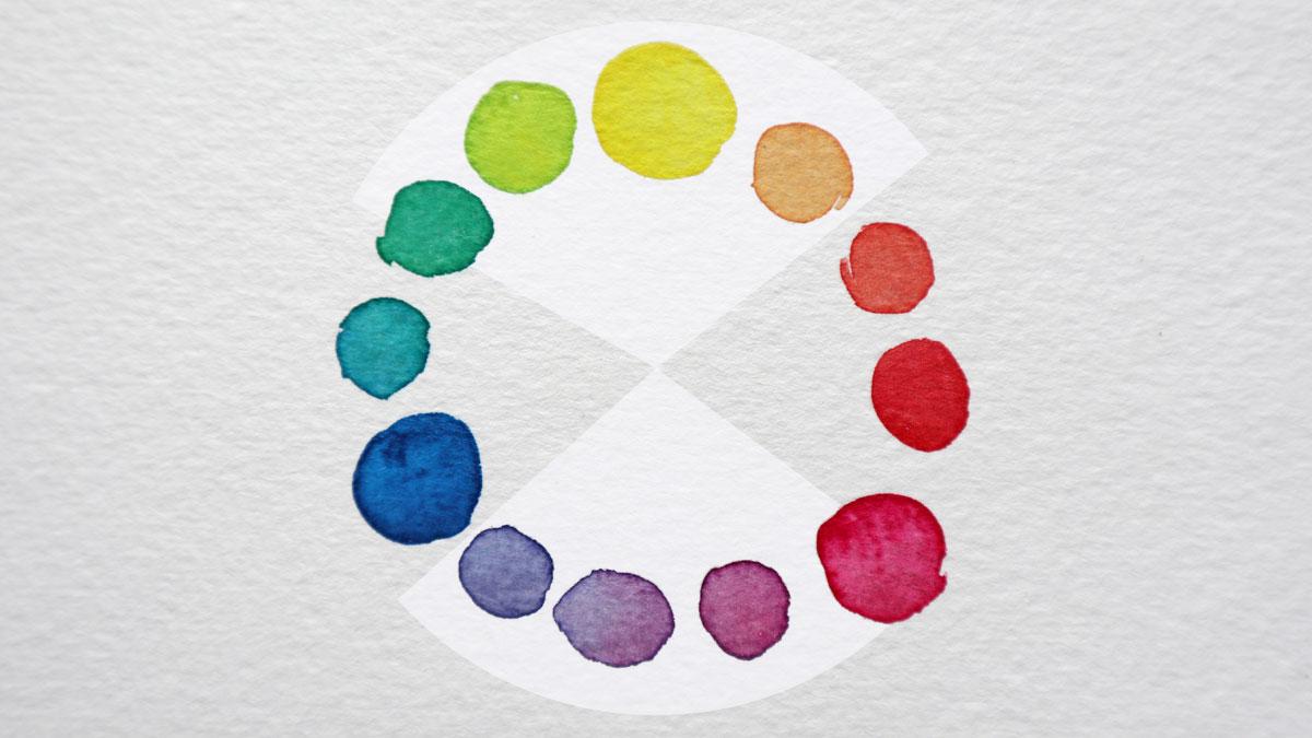 Komplementärfarben liegen sich im Farbkreis gegenüber.