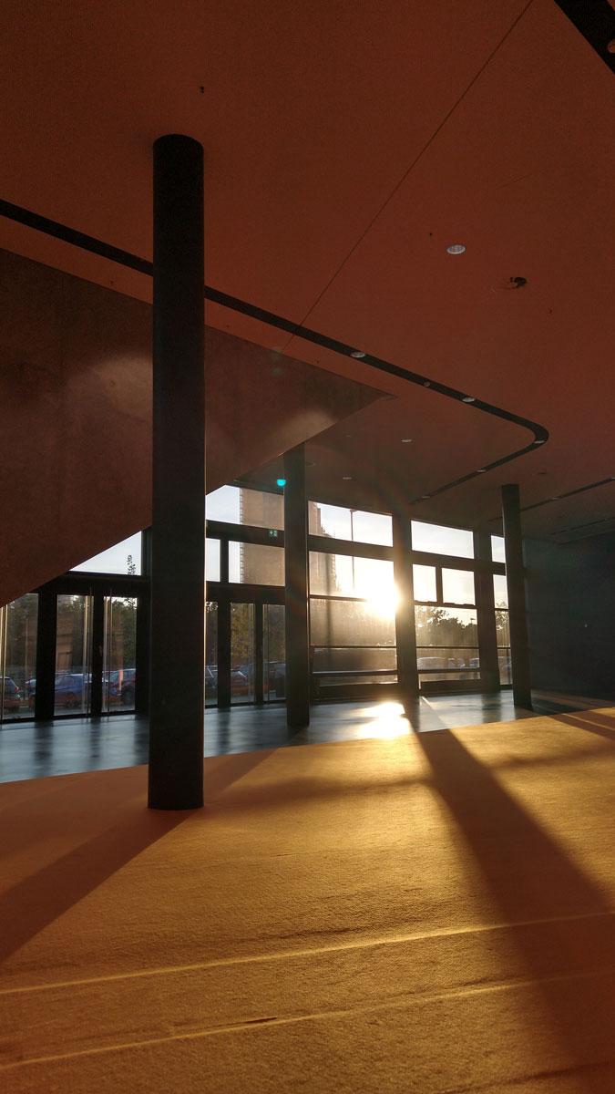 Sonnenlicht in der Halle 3C.