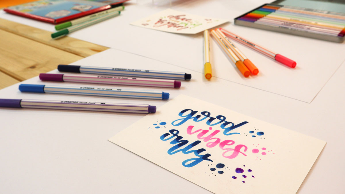 Stabilo Point 68 Brush– Der Handlettering-Stift auch für Anfänger