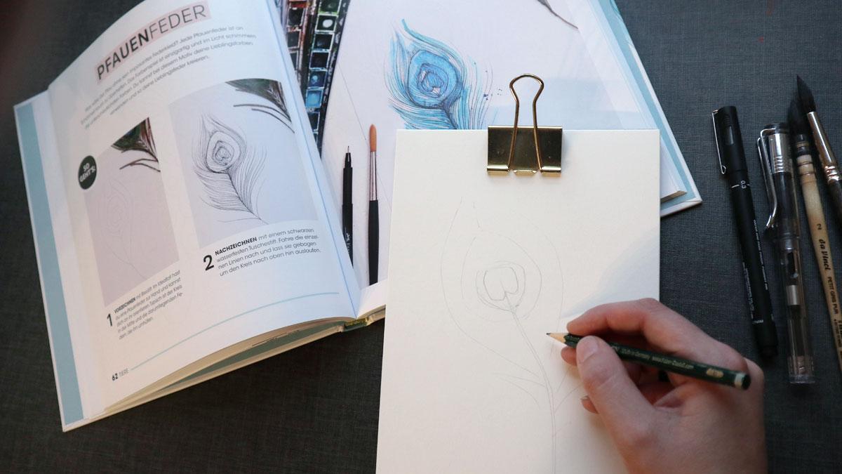 Zeichnen mit Watercolor Effekt - Katharina Konte - Buchrezension