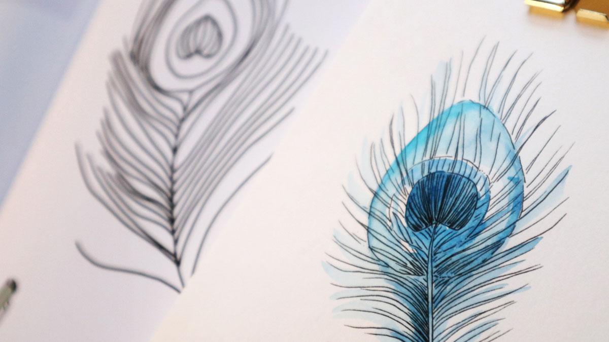Zeichnen mit Watercolor Effekt - Katharina Konte - EMF Verlag - Buchrezension