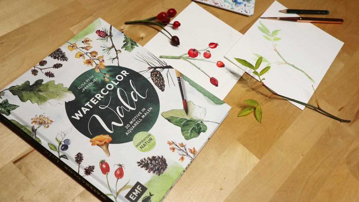 Elisa Peth Pressliz - Watercolor Wald - EMF Verlag