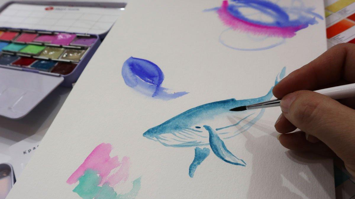 White Nights Neva Palette - Aquarellfarben mit Pigment Weiß