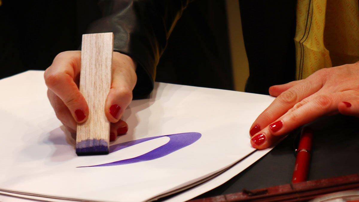 Online Pen Andrea Wunderlich Balsaholz Kalligraphie Paperworld 2020