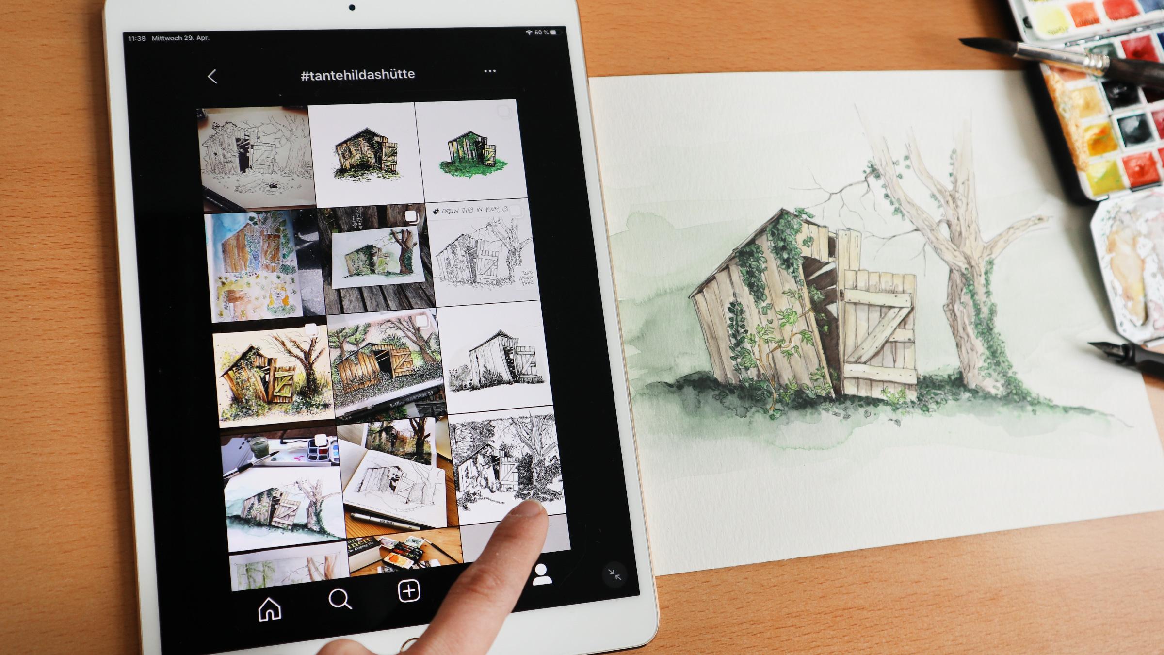 Draw This in Your Style Challenge Instagram Übersicht Tante Hildas Hütte