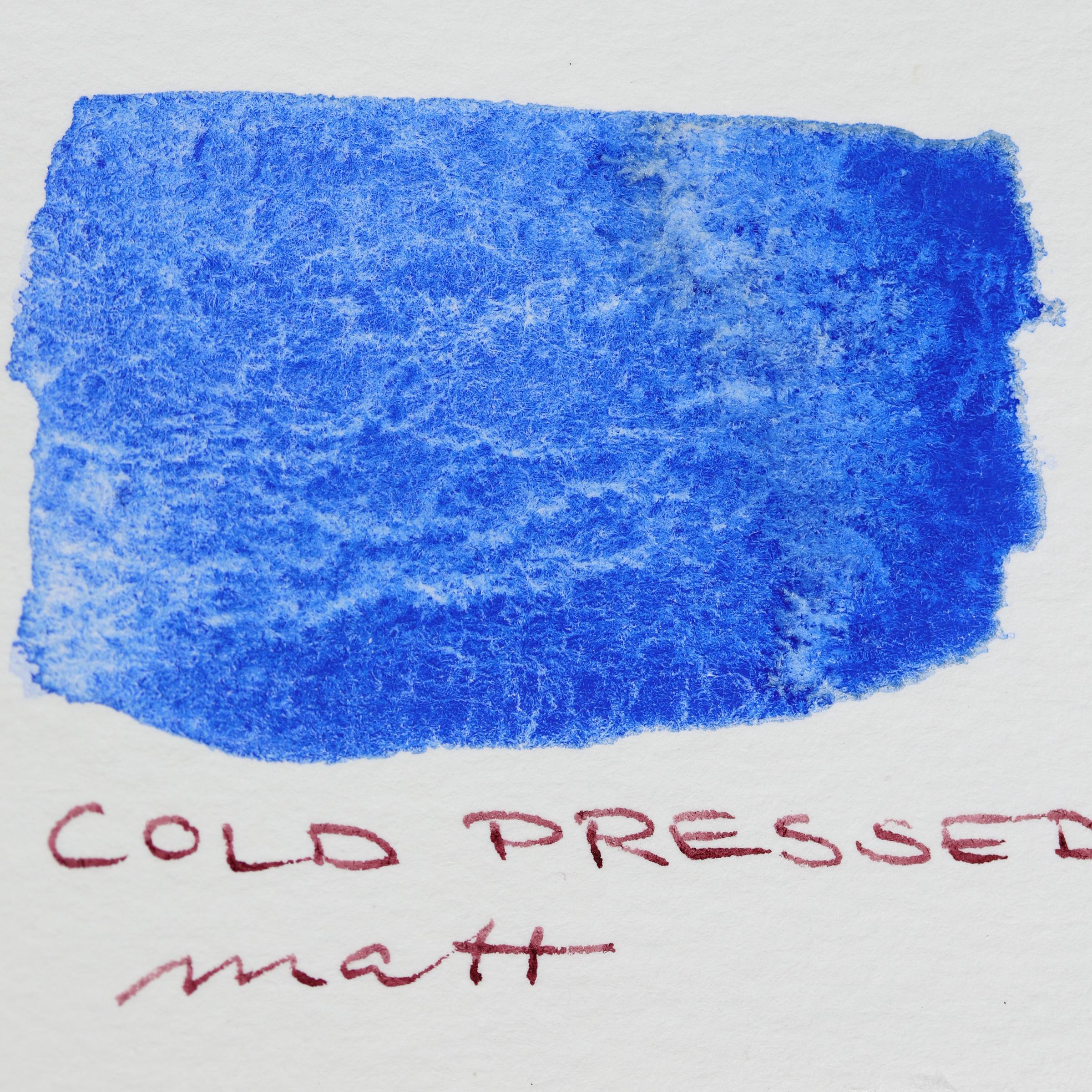 Granulierende Aquarellfarbe – Schmincke Französisch Ultramarin Blau (493) auf Aquarell-Papier, cold pressed, matt.
