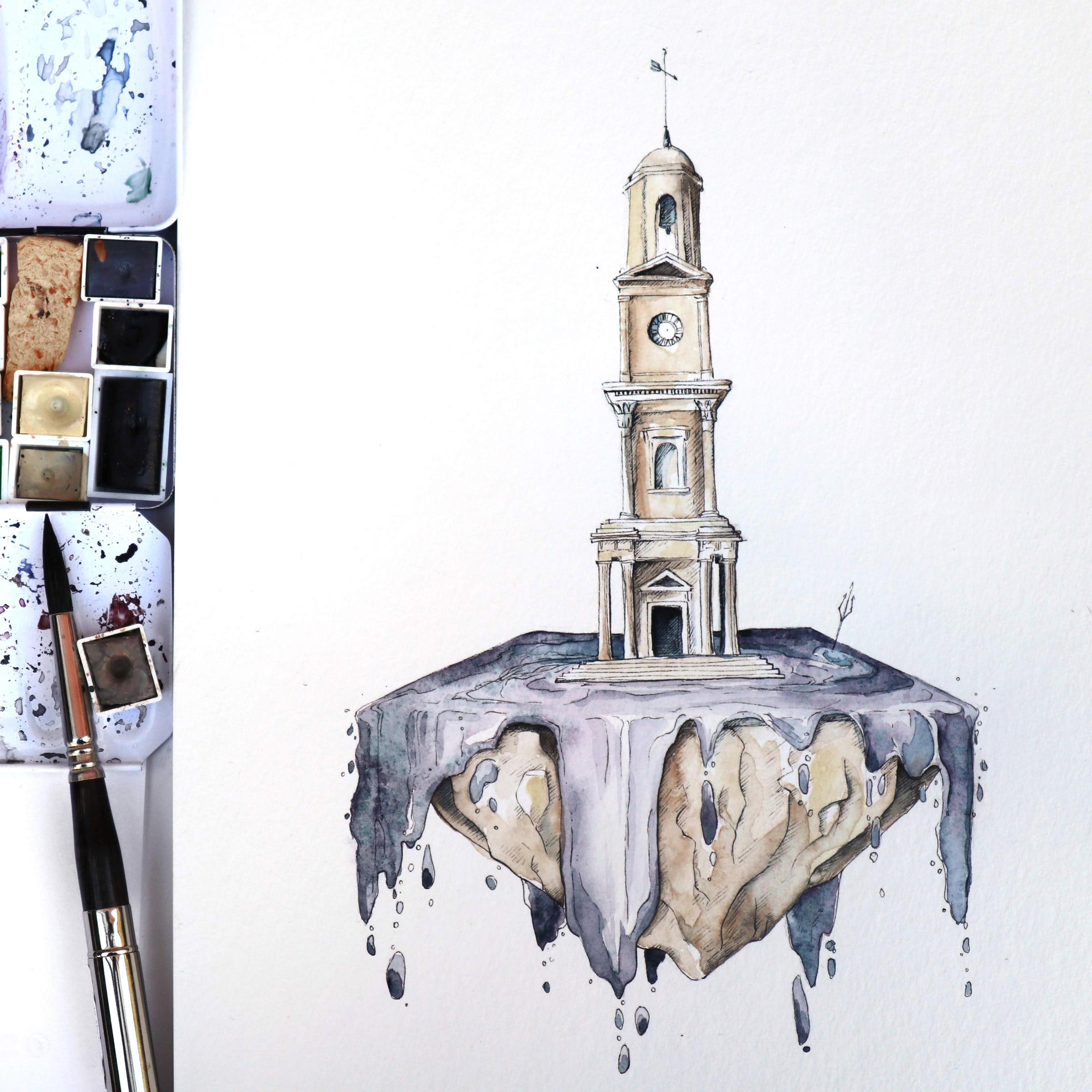 Der Herne Bay Clock Tower als Mittelpunkt einer eigenen kleinen Welt aus Moonglow.