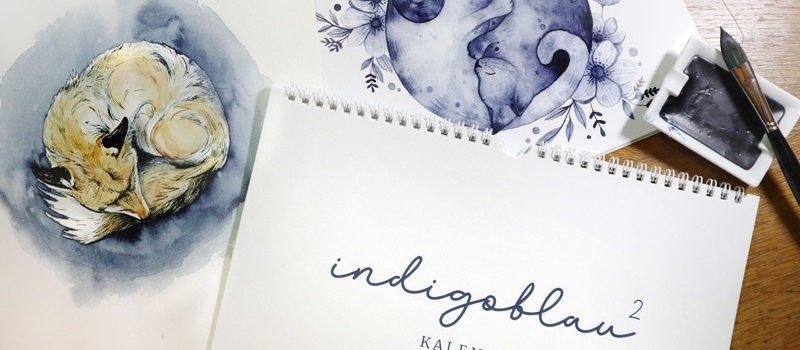 Indigoblau Hoch 2 - Künstlerkalender