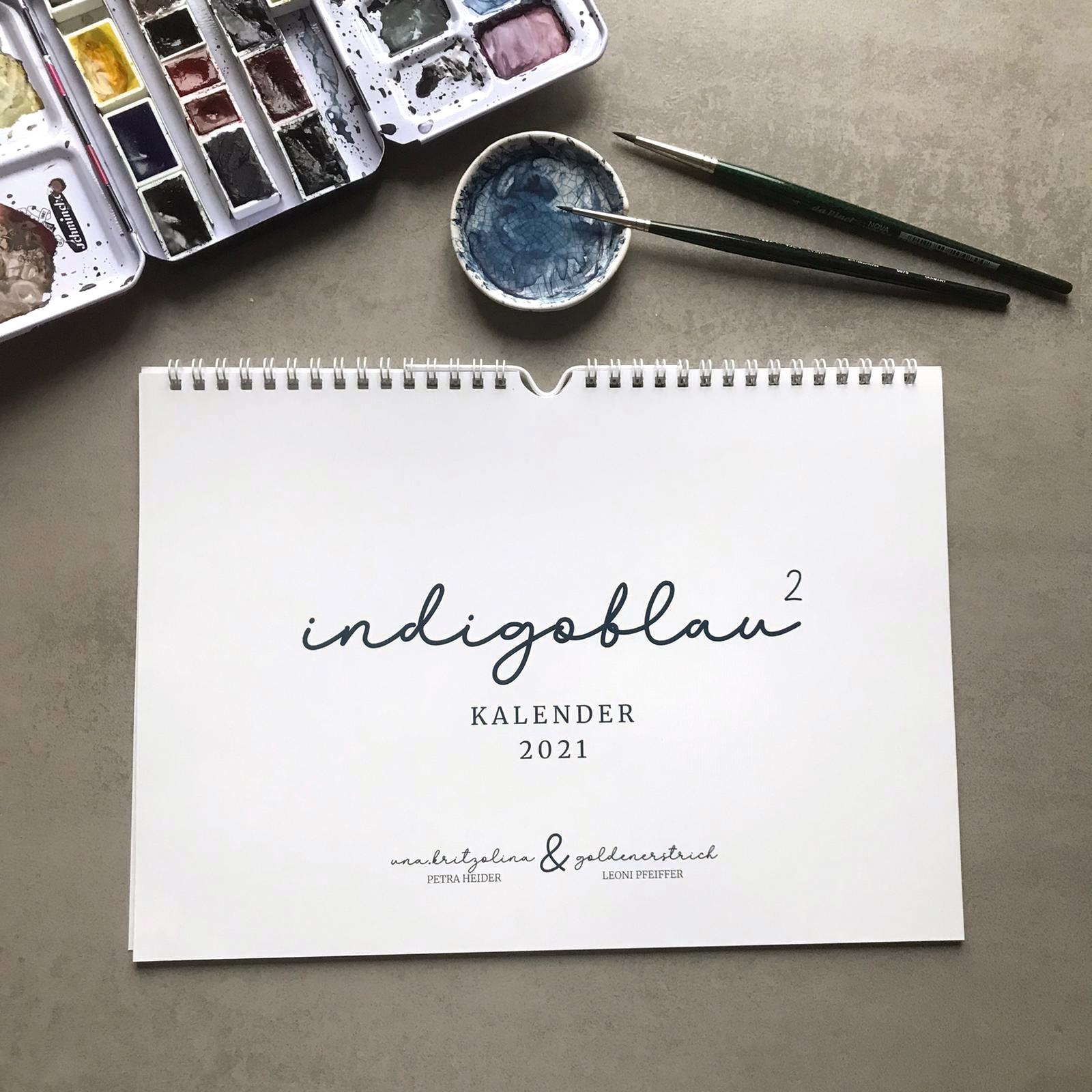indigoblau hoch 2 - ein besonderer Kalender für 2021