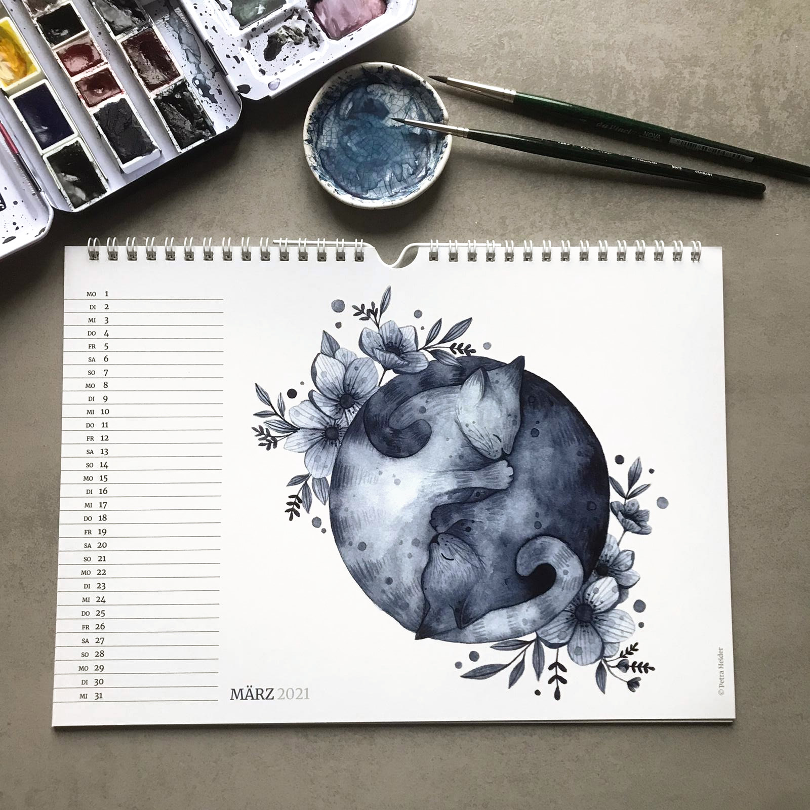 Zwei liebende Katzen – Petra Heider