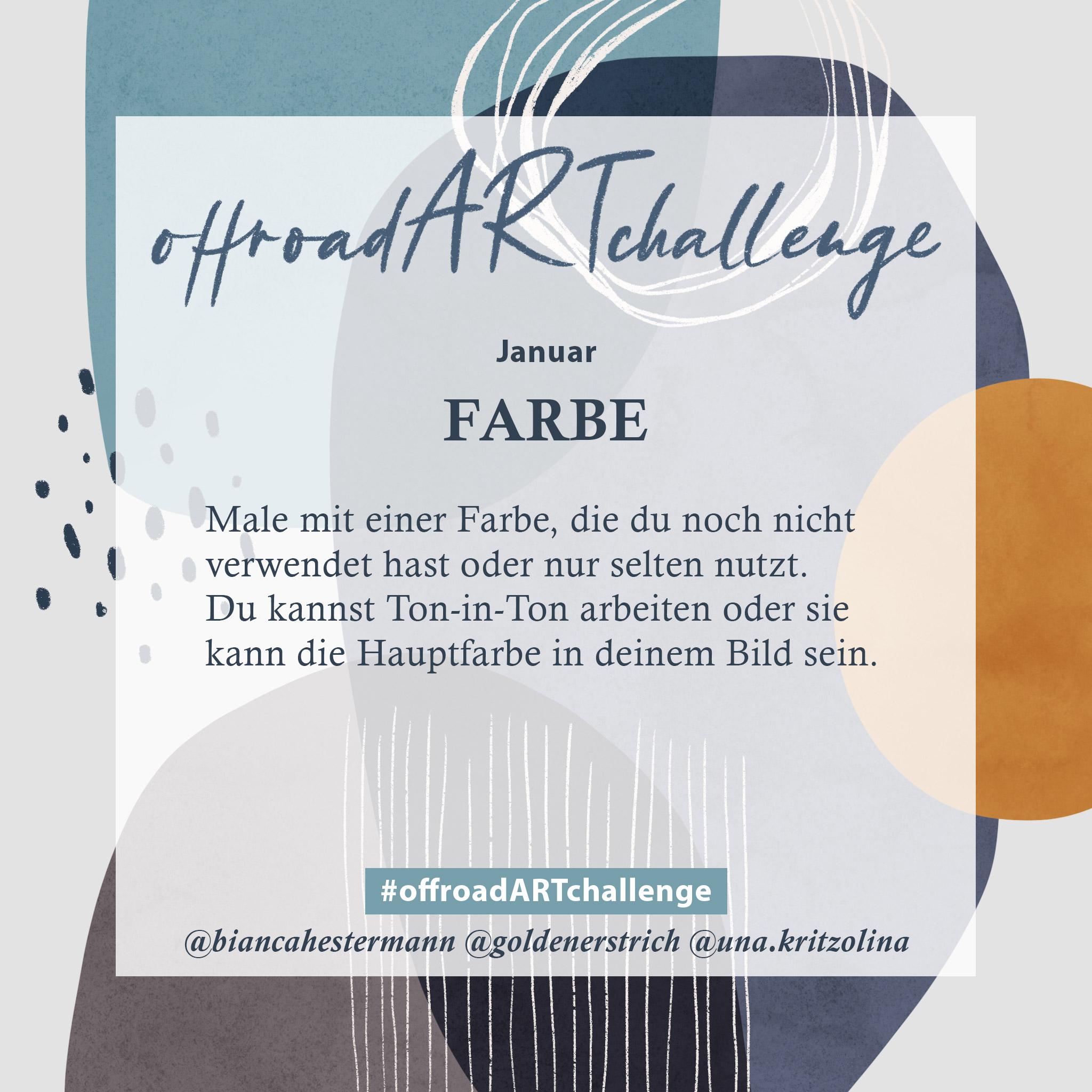 offroad ART challenge Monatsthema Januar: Neue Farbe