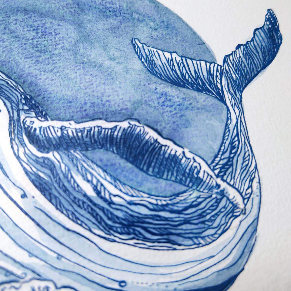 """Eine strukturierte Fläche aus """"Tiefsee Indigo"""", eine der Supergranulierenden Aquarellfarben von Schmincke."""