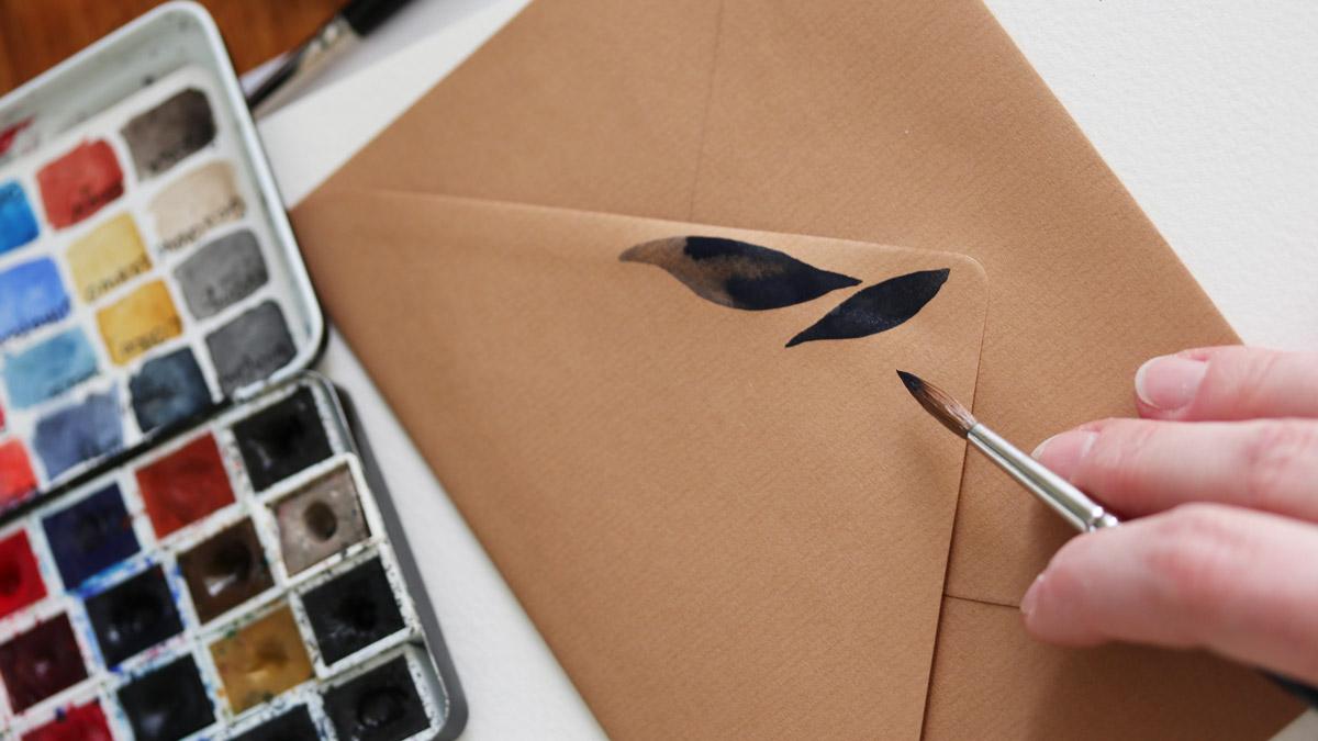 """""""Neues Papier"""" kann auch ein ungewöhnliches für Eure Technik sein: zum Beispiel ein Briefumschlag"""