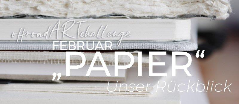 """Review """"Neues Paper"""" in der #offroadARTchallenge"""