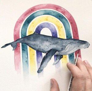 Trauma überwunden: Petras Regenbogen-Wal.