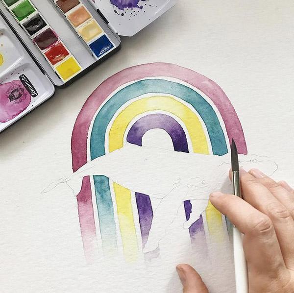 Work in Progress: Farben des Regenbogens
