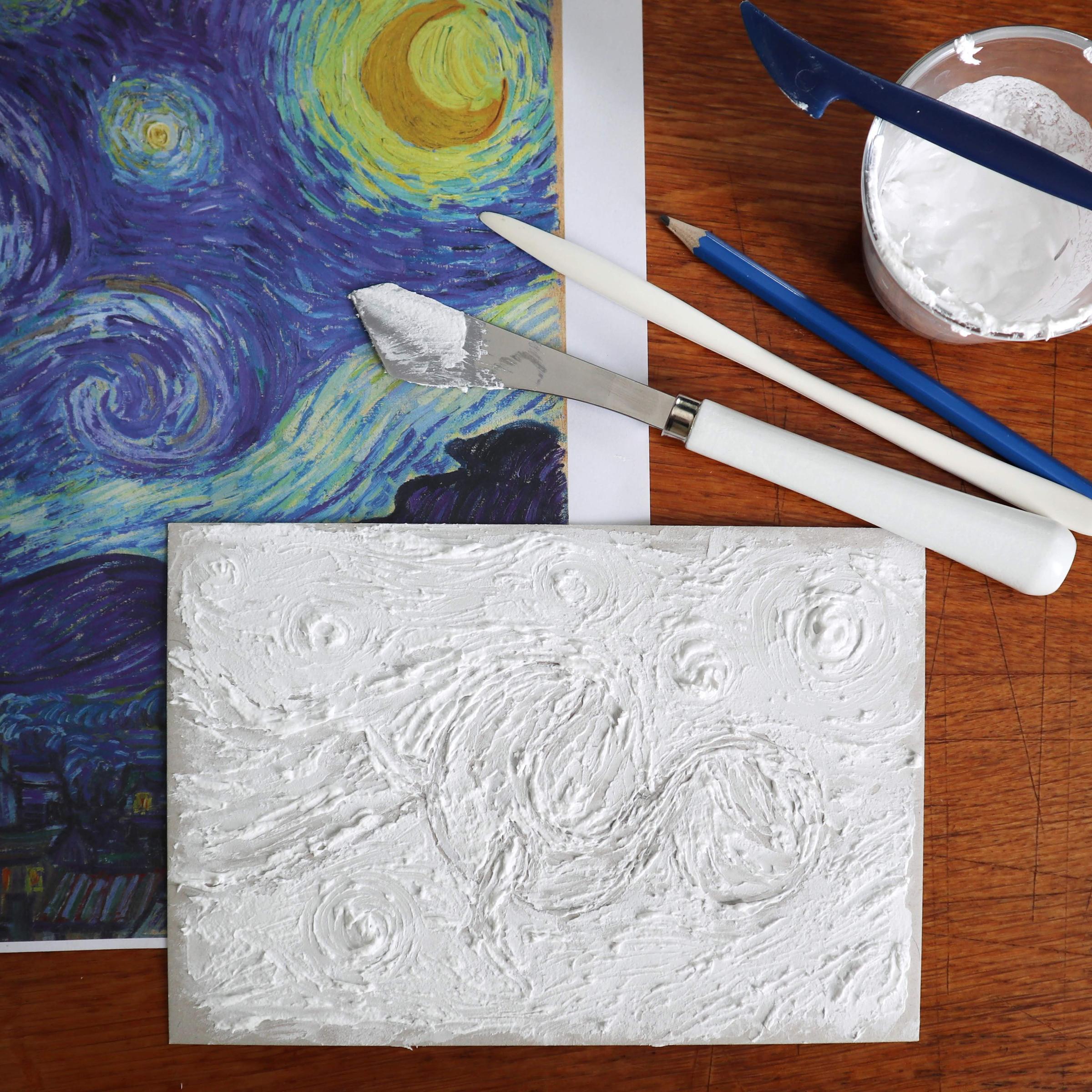 Pastöse Pinselstriche mit Ölfarbe nachahmen mit Strukturpaste für Aquarellfarben.