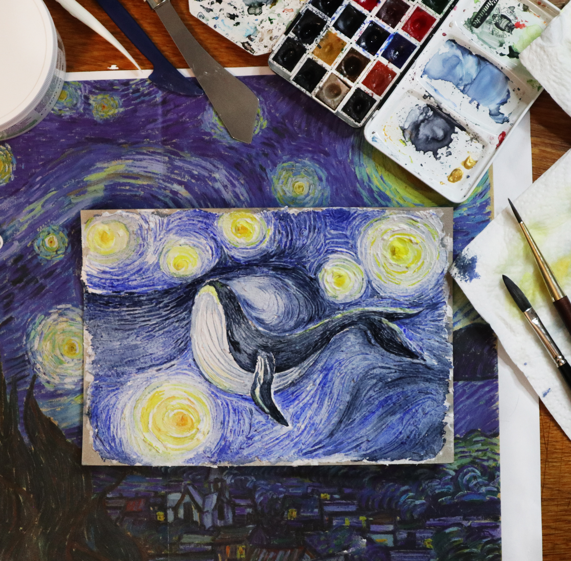 Wal in der Sternennacht