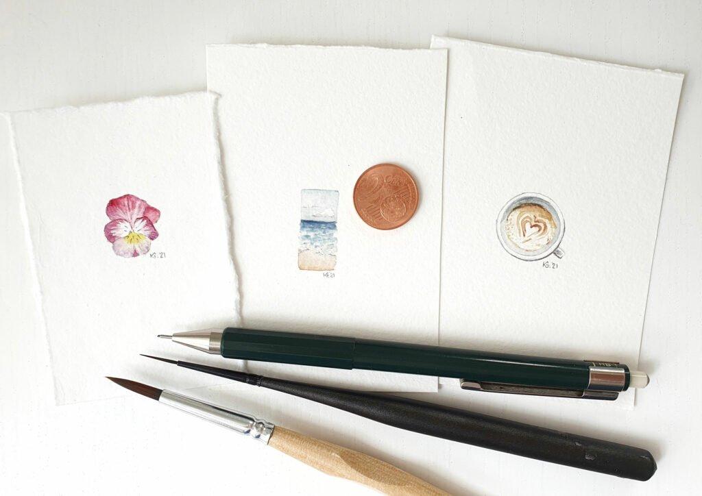 Drei feine kleine Illustrationen von Katrin Graff, Kamides Illu.
