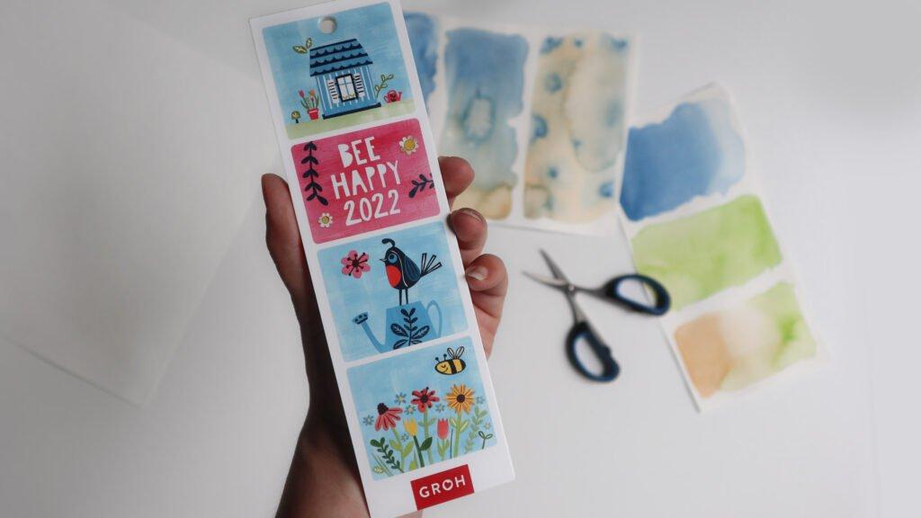 Inspirationsquelle: Der Lesezeichenkalender aus dem Groh Verlag mit Paper Cut-Arbeiten von Inga Knopp-Kilpert.
