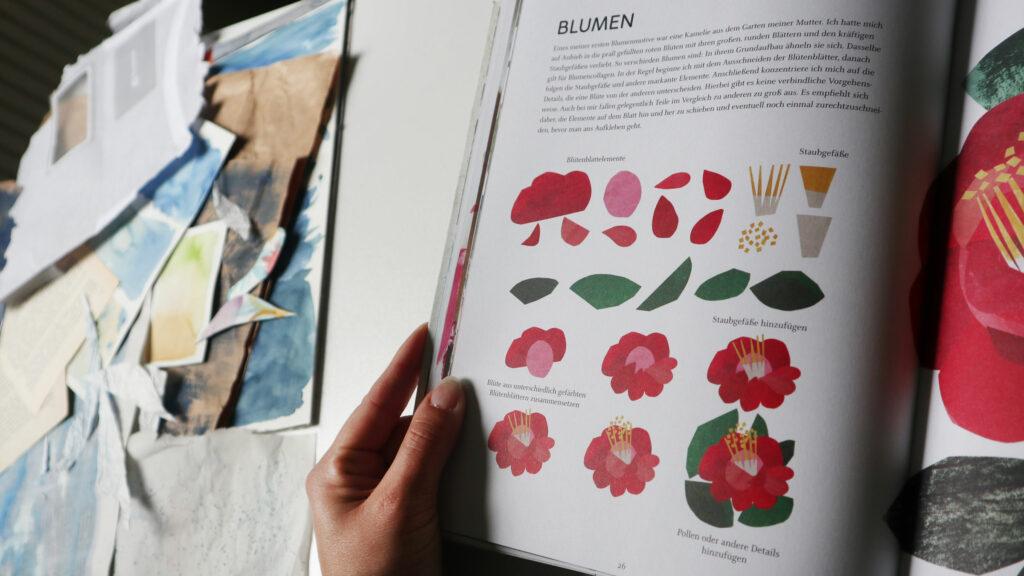 Schritt für Schritt entsteht aus verschiedenen Grundformen eine Kamelienblüte.