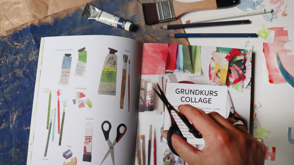 Grundlagen und Materialien für das Schneiden und Arrangieren von Paper Cuts und Collagen.