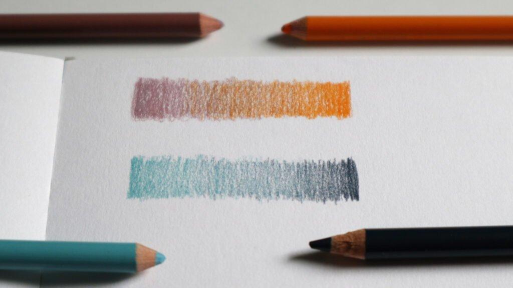 Farbverlauf durch das schummernde Überlagern von zwei Farben.